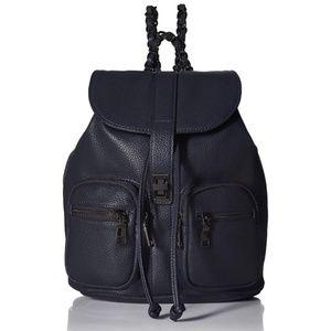 New Steve Madden Navy Chain Backpack